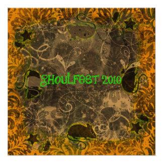 Invitación 2010 del fiesta de Ghoulfest Halloween
