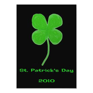 Invitación 2010 del trébol del día de St Patrick