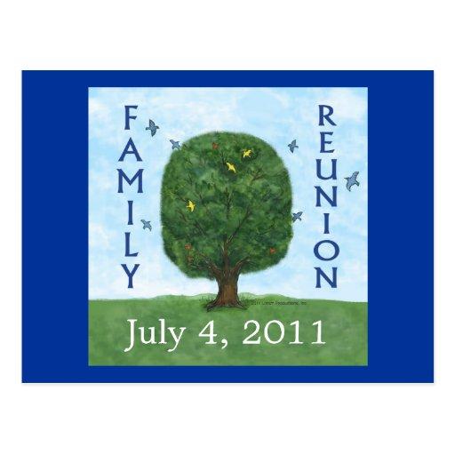 Invitación 2011 de la postal de la reunión de fami