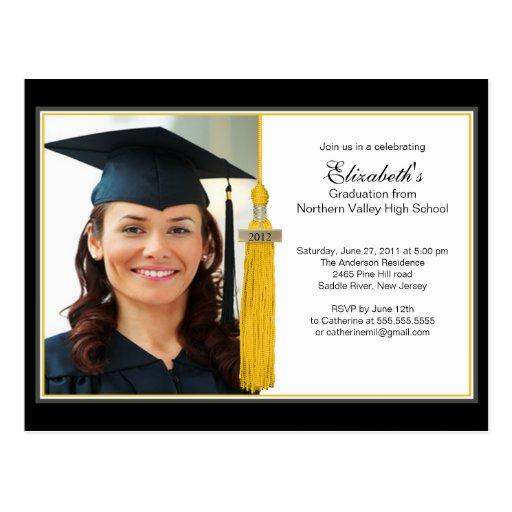 Invitación 2012 de la fiesta de graduación de la postal