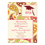 Invitación 2012 de la graduación de Paisley