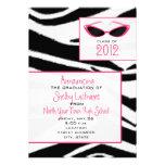 Invitación 2012 de la graduación del estampado de