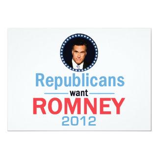 Invitación 2012 de Romney Invitación 12,7 X 17,8 Cm