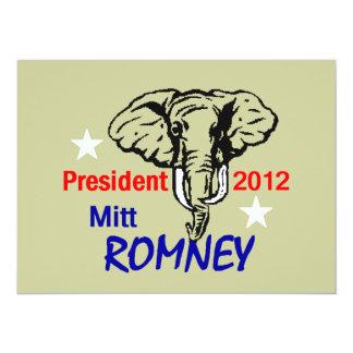 Invitación 2012 de Romney Invitación 13,9 X 19,0 Cm