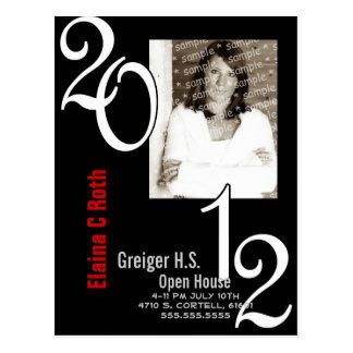 Invitación 2012 del graduado del marco de la foto postales