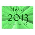 Invitación 2013 de la graduación invitación 12,7 x 17,8 cm