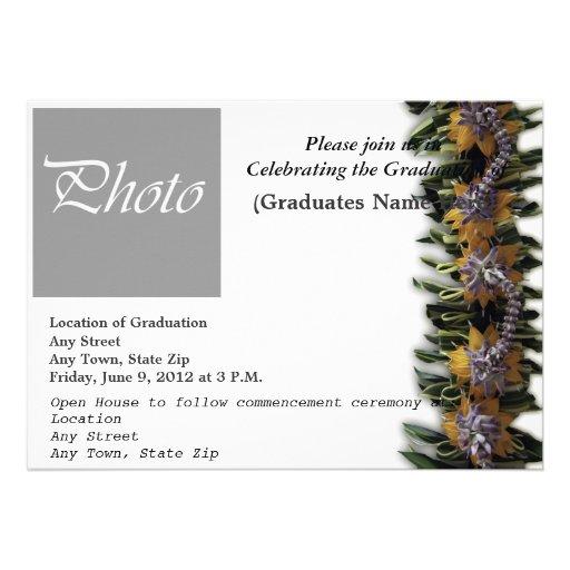 Invitación 2013 de la graduación (tema hawaiano)