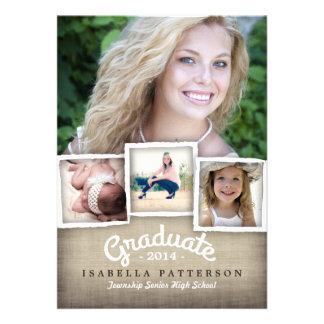 Invitación 2014 de la graduación de la arpillera d
