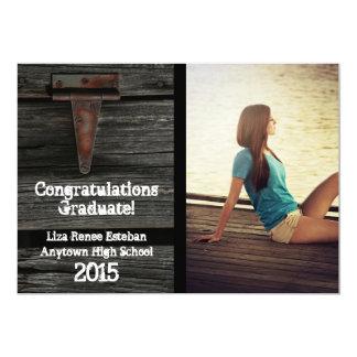 Invitación 2015 de la graduación de la foto de invitación 12,7 x 17,8 cm