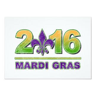 Invitación 2016 de la flor de lis del carnaval