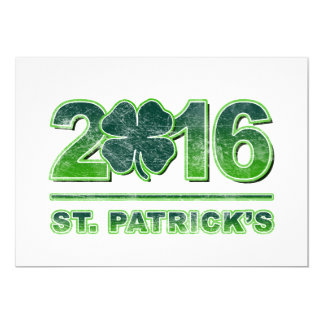 Invitación 2016 del trébol del día de St Patrick