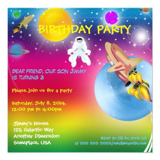 Invitación 2 de la fiesta de cumpleaños del astron