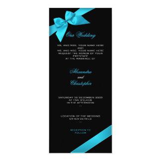 Invitación 2 de la invitación del boda de la cinta