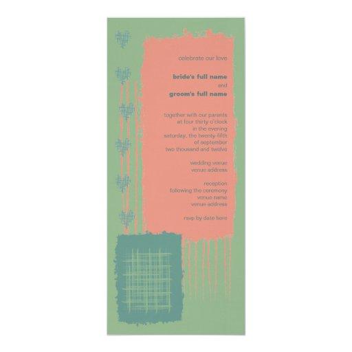 Invitación 2 del boda de la pátina, del mar y del