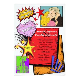 Invitación 2 del boda del arte pop