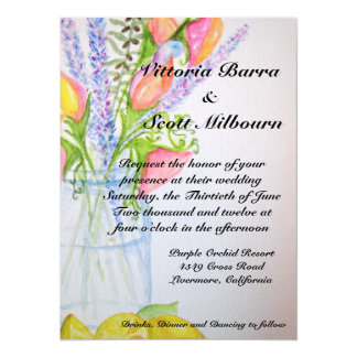 Invitación #2 del boda del tarro de albañil
