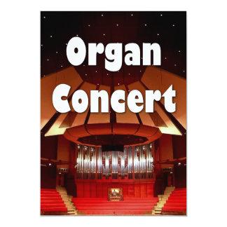 Invitación 2 del concierto del órgano