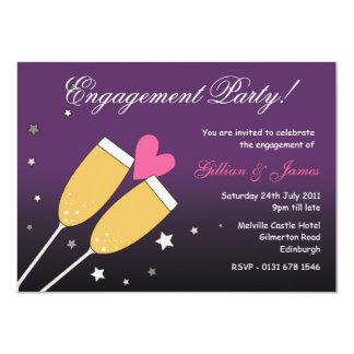 Invitación 2 del fiesta de compromiso de la