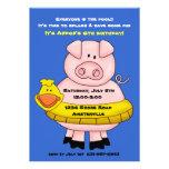 Invitación 2 del flotador de Piggie