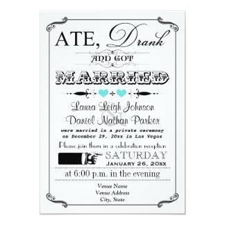Invitación 3 del boda del poster y de la pizarra invitación 12,7 x 17,8 cm