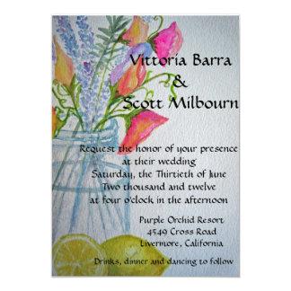 Invitación #3 del boda del tarro de albañil