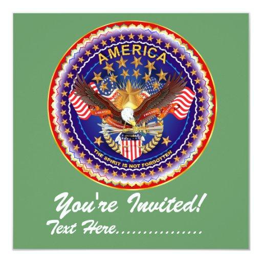 """Invitación 5,25"""" x 5,25"""" América no olvidada…."""