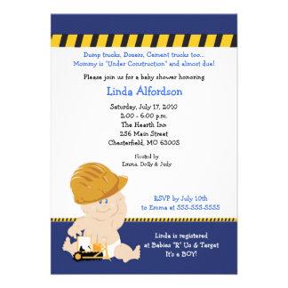 Invitación 5x7 de la fiesta de bienvenida al bebé
