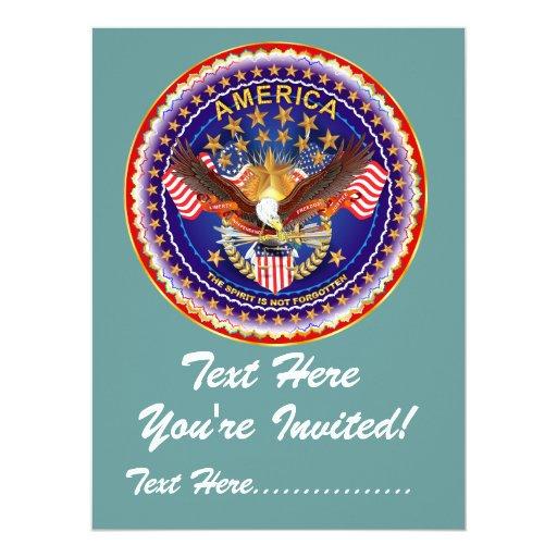 """Invitación 6,5"""" x 8,75"""" América no olvidada…."""