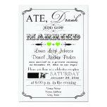 Invitación 7 del boda del poster y de la pizarra invitación 12,7 x 17,8 cm