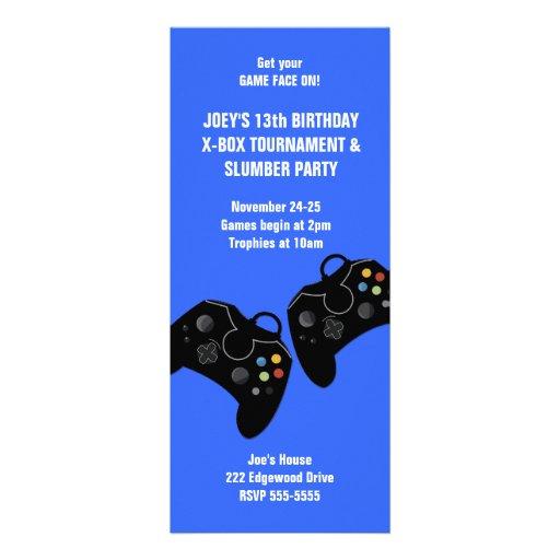 Invitación 9 x 4 del cumpleaños del regulador del