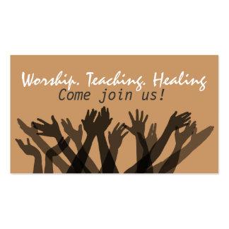 Invitación a Church.Worship.Bible.Healing.Prayer Tarjetas De Visita