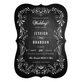 Invitación a mano del boda del follaje de la invitación 12,7 x 17,8 cm
