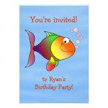 Invitación a pescado de la fiesta de cumpleaños de