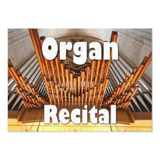Invitación a un decreto del órgano - Ulm instala Invitación 12,7 X 17,8 Cm