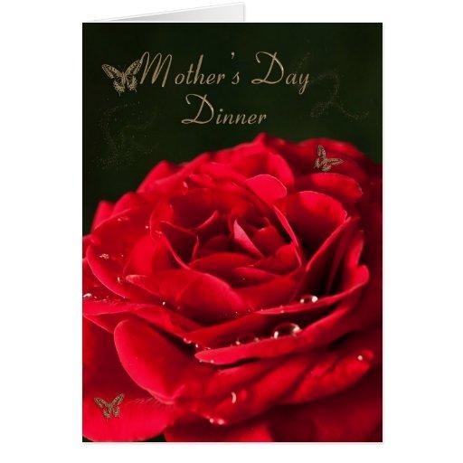Invitación a una cena del día de madre tarjeta