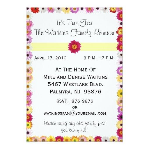 Invitación a una reunión de familia