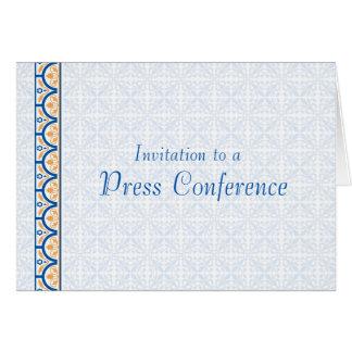 Invitación a una rueda de prensa tarjetas