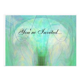 Invitación abstracta de la lámpara de la turquesa