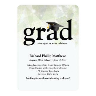 Invitación abstracta de moda de la graduación