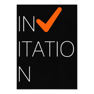 Invitación aceptable invitación 12,7 x 17,8 cm