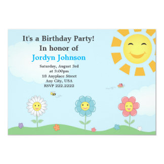 Invitación adaptable de la fiesta de cumpleaños