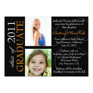 Invitación adaptable de la foto del graduado del