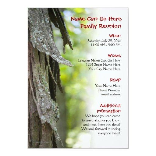 Invitación adaptable de la reunión de familia del invitación 12,7 x 17,8 cm