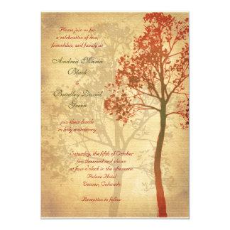 Invitación adaptable del boda del árbol de la