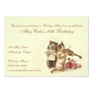 Invitación adaptable del cumpleaños para los invitación 12,7 x 17,8 cm