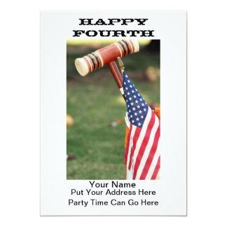 Invitación adaptable del fiesta con la bandera
