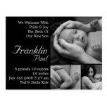 Invitación adaptable del nacimiento modificada par postal