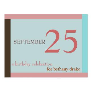 Invitación adaptable I del cumpleaños Tarjeta Postal