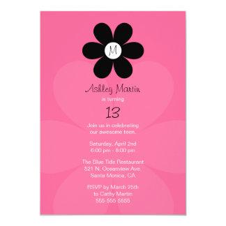 Invitación adolescente de la fiesta de cumpleaños invitación 12,7 x 17,8 cm