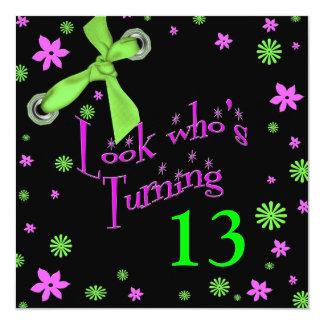 Invitación adolescente del cumpleaños - INSERTE la